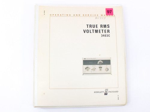 HP 3403C  True RMS Voltmeter Operating and Service Manual
