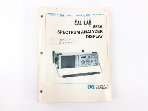 HP 853A  Spectrum Analyzer Display Operation and Service Manual