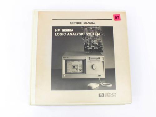 HP 16500A  Logic Analysis System Mainframe Service Manual