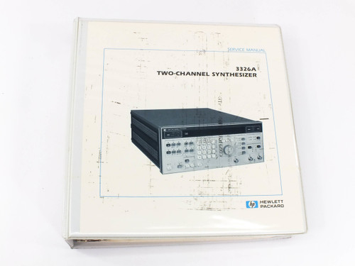 HP 3326A  Two Channel Synthesizer Service Manual