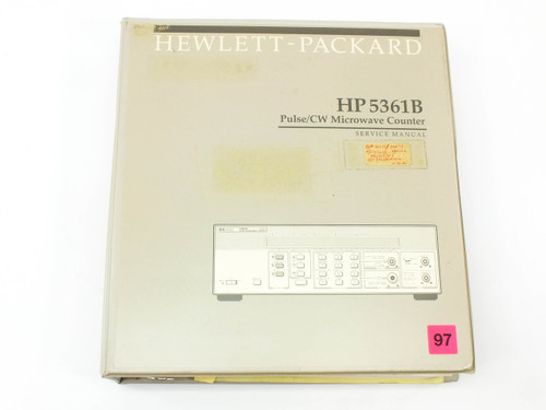 HP 5361B  Pulse/CW Microwave Counter Service Manual