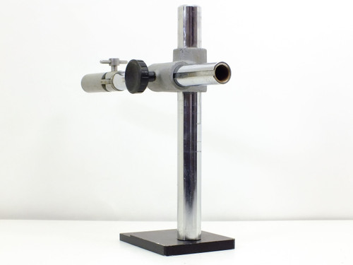 """Microscope Boom  Stand System with 14"""" Vertical Pole and 11.5"""" Arm -AS IS- Broken Knob"""