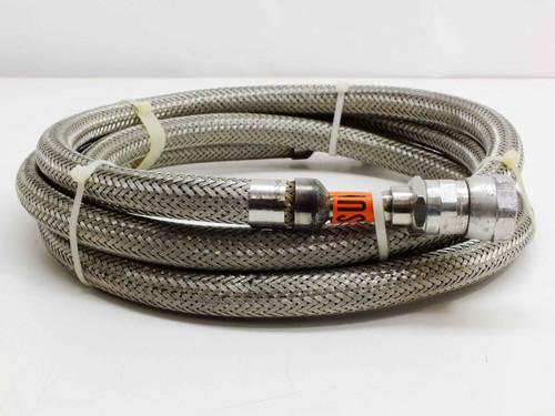 "Aeroquip 5400-95-8 1"" Stainless Flex Line for Helium Cryocooler Cryopump 120 Inch"