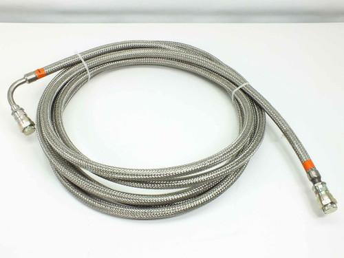 "CTI 8043074  3/4"" Cryopump Vacuum Helium Compressor Line 25 Foot Elbow"