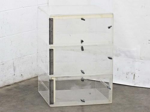 Plexiglass 19 x 19 x 26  3 Door Nitrogen Dry Box Desiccator