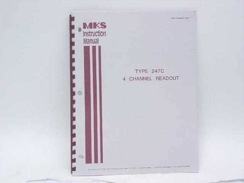 MKS Type 247C 4 Channel Readout Instruction Manual (195-110354A-7/87)