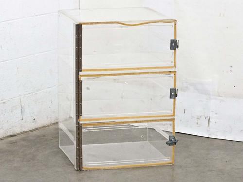 Plexiglass 18 x 18 x 27  3 Door Nitrogen Dry Box Desiccator Broken Latches