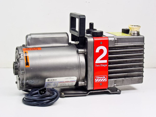 Edwards E2M2 Single Phase High Vacuum Pump 115/230 VAC *AS-IS* MOTOR SEIZED