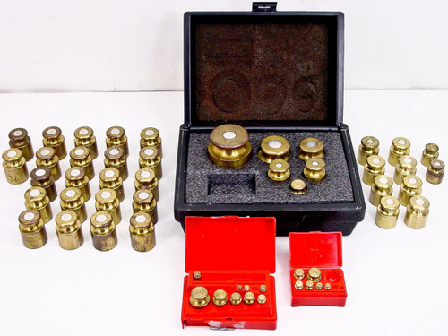 Troemner Brass Calibration Weight 53 Piece Set - 1g to 2kg in Case