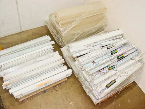 """Lithonia Lighting 48"""" One and Two Light Strip Fluorescent Light Fixtures C-15,80"""