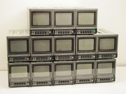 "Sony PVM-5041Q  5"" Trinitron Color Video Monitors - Lot of 13 - As Is"