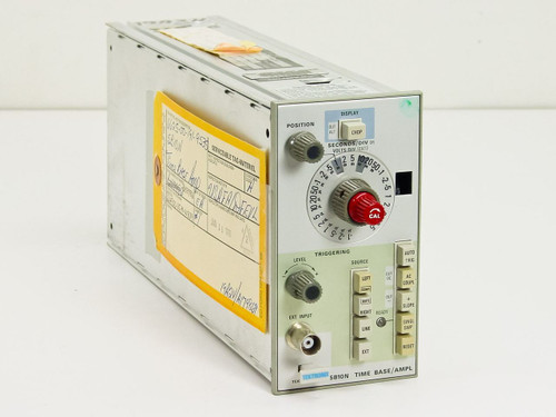"Tektronix 5B10N   Time Base/Ampl - missing ""SWP MAG"" button"