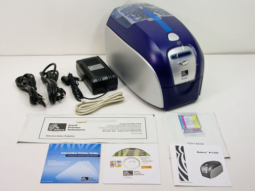 Zebra  P120iP0000A  P120i Dual Sided Color ID Card Printer with accessories
