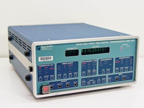 Tau-Tron S5104 DS1/DS1C/DS2  Digital Transmission Test Set Option 03, 05 As Is
