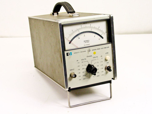 HP 3400A RMS AC Voltmeter 1 mV to 300 VAC 10 Hz to 10 MHz