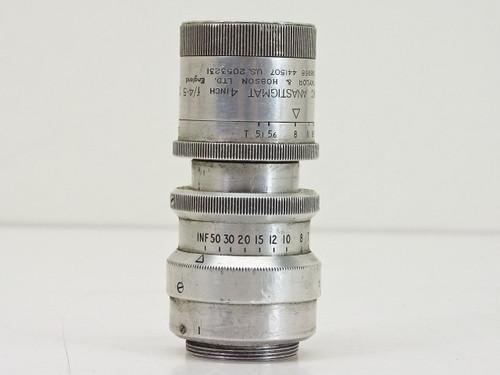 """Taylor & Hobson  4"""" F4.5   C-mount Lens"""