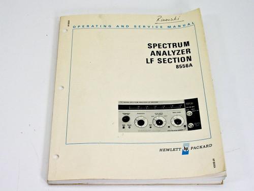 HP 8556A  Operating & Service Manual