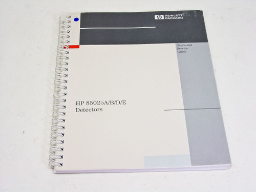 HP 85025A/B/D/E  Detectors User and Service Guide