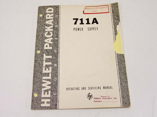 HP 711A  Operating & Service Manual