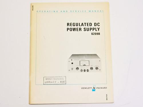 HP 6209B  Operating & Service Manual