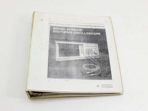 HP 54100A-D  Operating & Programming Manual