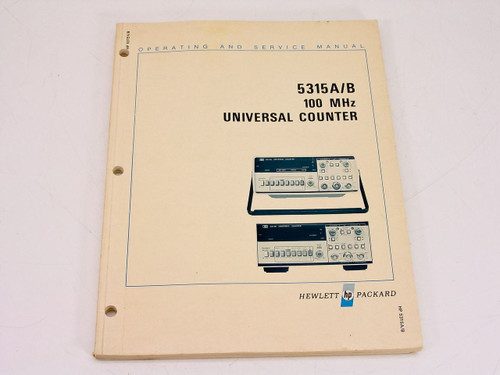 HP 5315A/B  Operating & Service Manual