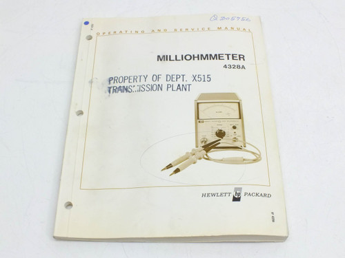 HP 4328A  Milliohmmeter Operating & Service Manual