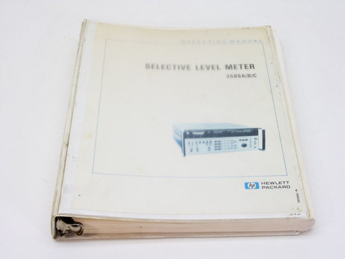 HP 3586 A/B/C  Selective Level Meter Operating Manual
