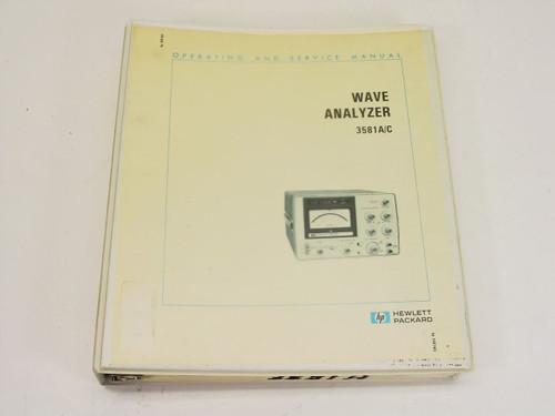 HP 3581A/C  Wave Analyzer Operating & Service Manual