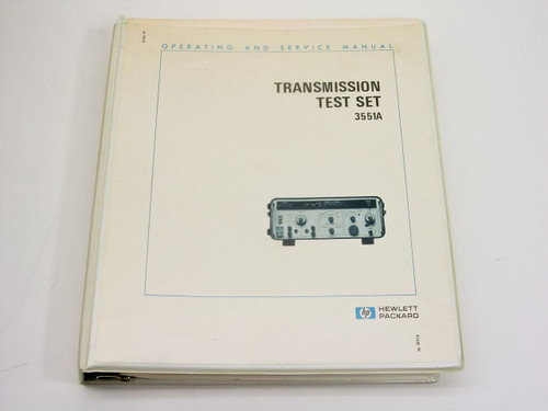 HP 3551A  Operating & Service Manual