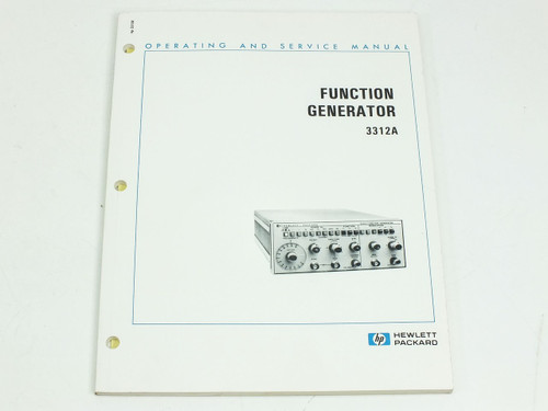 HP 3312A  Operating & Service Manual