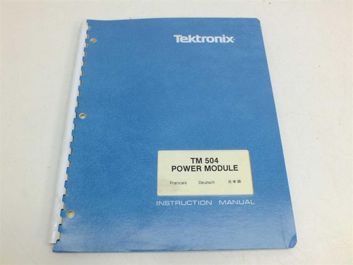 Tektronix TM504  Power Module Instruction Manual 070-1716-01
