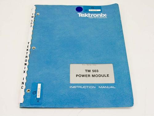 Tektronix TM503  Power Module Instruction Manual 070-1305-01