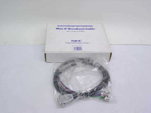 NEC Mac 6' Breakout Cable Mac 15-pin to 4 BNC MAC 15/4BNC
