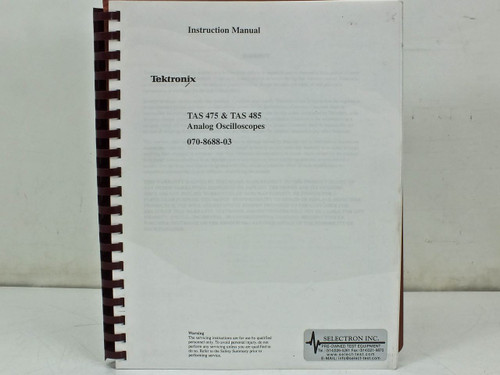 Tektronix TAS475 & TAS485  Instruction manual