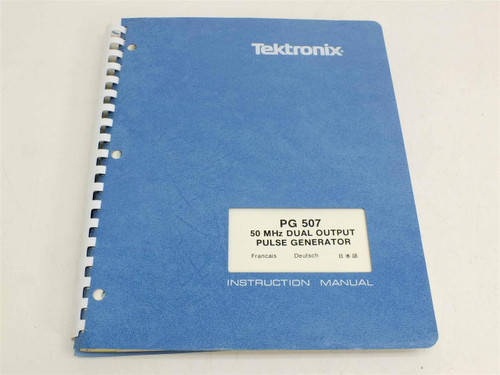 Tektronix PG 507  Instruction Manual