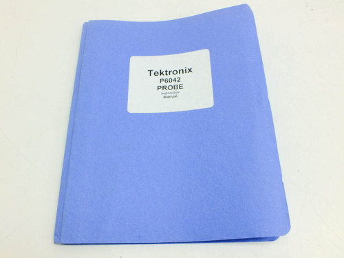 Tektronix P6042 Probe  Instruction manual