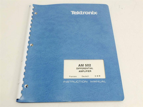 Tektronix AM502  Instruction Manual