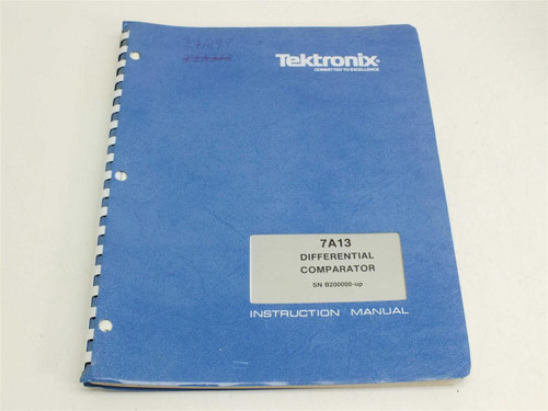 Tektronix 7A13  Instruction manual