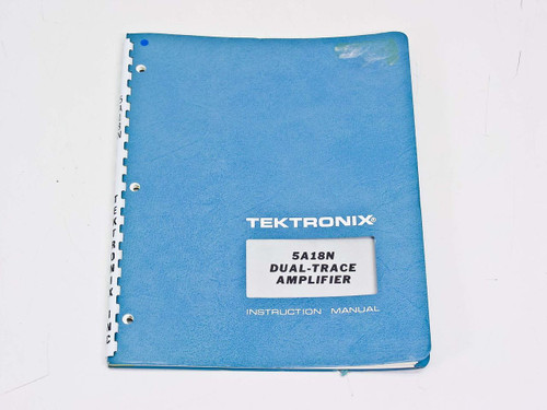 Tektronix 5A18N  Instruction manual