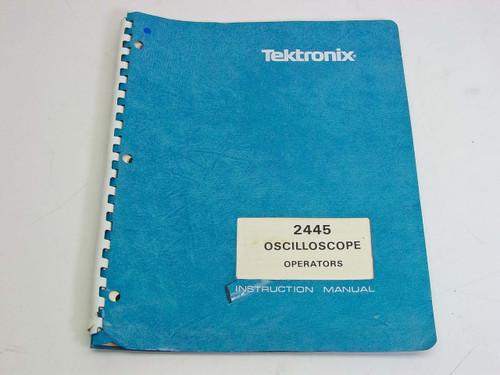 Tektronix 2445 Oscilloscope  Instruction Manual
