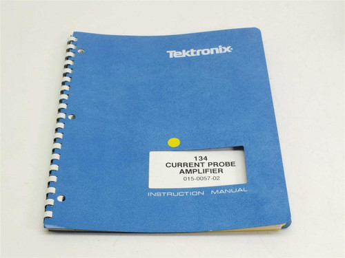 Tektronix 134 Current Probe Amplifier  Instruction Manual