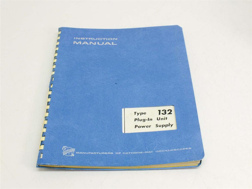 Tektronix 132 Plug-In Unit Power Supply  Instruction manual