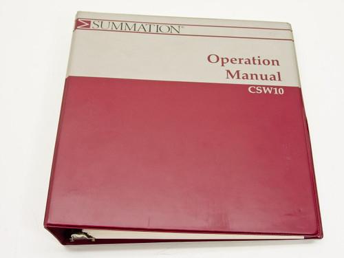 Summation CSW10  Operation Manual