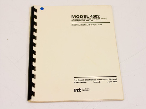 Northem Telecom 4002  Installation & Operation Manual
