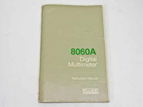 Fluke 8060A  Instruction Manual