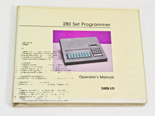 Data I/O 280 Set Programmer  Operator's Manual