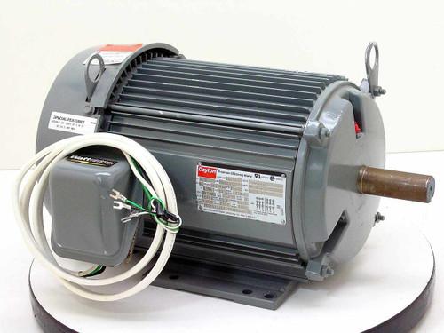 Dayton 5N297 Premium Efficiency Motor 5 HP 230/460 VAC 1750 RPM 3-Phase