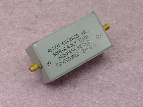 Allen Avionics Inc. Highpass Filter No P/N