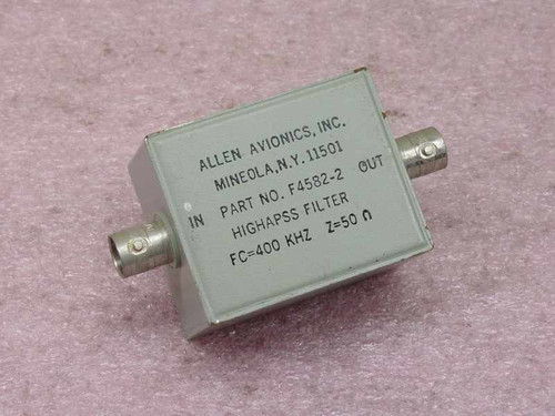Allen Avionics Inc. Highpass Filter F4582-2